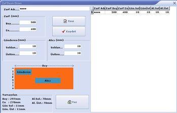 Dilekçe Programı Zarf Basım Ekranı