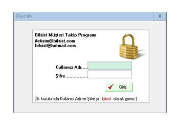 Müşteri Takip Programı Giriş Ekranı