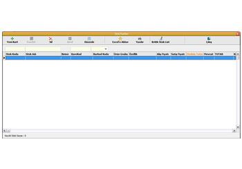 Optik Programı Stok İşlemleri Ekranı